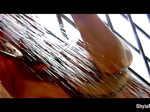 wet solo act with big-chested ash-blonde Shyla Stylez