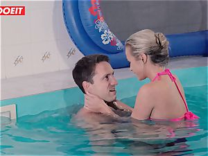 LETSDOEIT - super-naughty duo Has ultra-kinky hookup at The Pool
