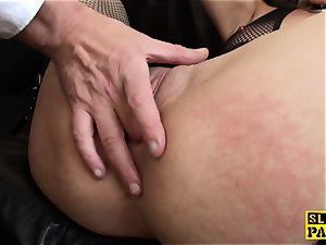 Ballgagged spanish victim made to masturbate