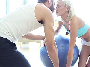 Kacey Jordan stops yoga to plow her fellow