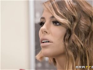 Adriana Chechik penetrated in her poon by a ebony jizz-shotgun