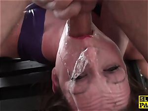 brit dominatrix dominated and made to suck