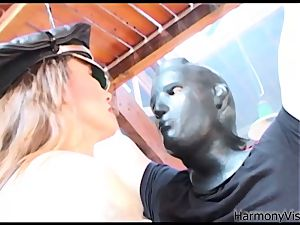 HARMONY VISION anal pummeling Alicia Rhodes with strap-on