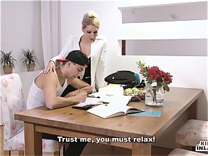 ultra-kinky INLAWS - slim Czech platinum-blonde red-hot pummel with stepson