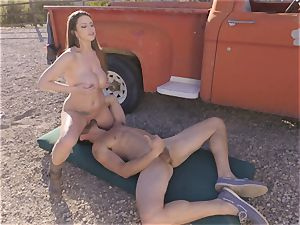 yam-sized boobed Brooklyn chase outdoor pummeling