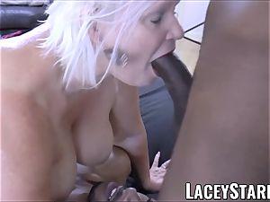 LACEYSTARR - big black cock double crew works on nasty grandma