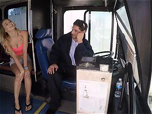 Natalia Starr penetrates a bus driver for a free rail