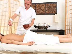 Riley Reid loves some extras at her massage