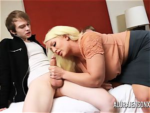 cheating threesome with huge boob superstar Alura Jenson