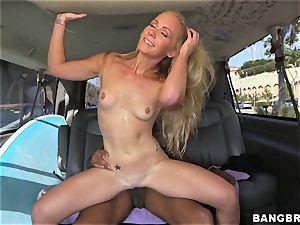 Sunny Stone porks ebony knob in the back seat