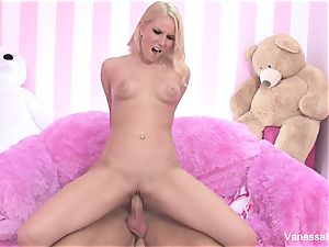 bang-out with adorable Vanessa cage and a hefty manhood