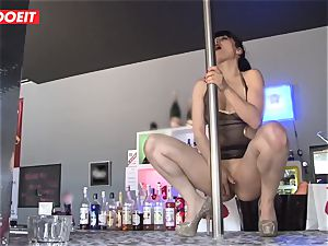 LETSDOEIT - French Stripper whore group-fucked at Work