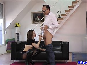 trendy sweetie pussyfucked by naughty old stud