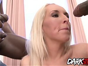 cougar Jenny Simons takes bbc in four-way