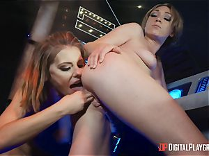 cootchie enjoying lezzies Adriana Chechik and Lily Labeau dump on board