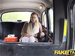 fake taxi Nurse in splendid lingerie has car romp
