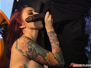 Monique Alexander muff thrashed sack deep then creamed on her face by big black cock