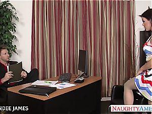 Rahyndee James inhales spunk-pump so superb he spills his load