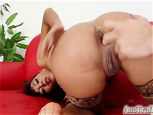 pumping out demonstrate by Shani as her ass is torn up