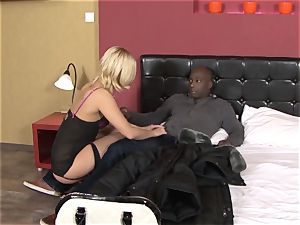 Invited a stranger hotwife trainer to pound towheaded wife