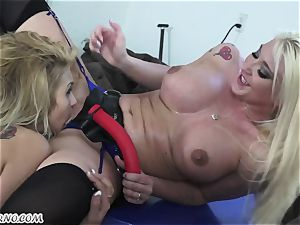 Mature wife Leya Falcon punishes her husband's mistress
