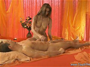 enduring Golden massage cougar blondie