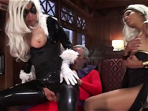 Vivid.com - 3 supah Villains have a super-naughty 3some