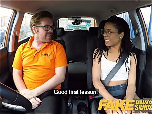 fake Driving school black american minx Kira Noir