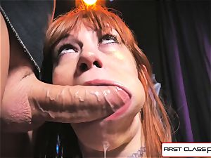 first Class pov - Alexa Nova throating a yam-sized dick in pov