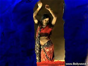 Indian brown-haired Dance Gracefully