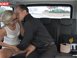 Czech customer Vinna Reed gets pounded in cab