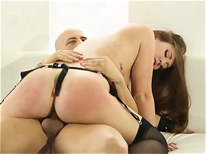 Maddy OReilly thrashed in her nice smallish cooter