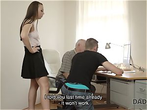 DADDY4K. dad and young chick super-steamy hook-up in bed culminates with internal cumshot
