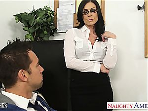 dark haired educator Kendra lust gets facialized