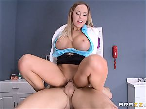 blondie doctor Payton West smashing her sumptuous fucking partner