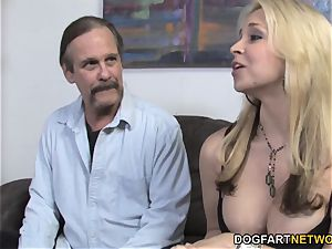 Sarah Vandella Takes big black cock pouch Deep - cuckold Sessions