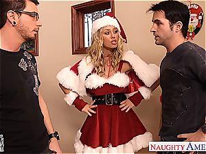 adorable Santa honey Nicole Aniston take 2 jizz-shotguns