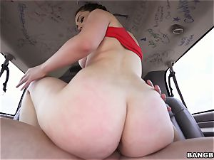 stunning black-haired picked up and porked