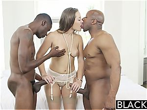 blinding Dani Daniels know how to sate ebony knobs