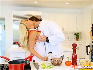 Luna star and Aria Alexander cooking up and orgasm with Jean Val Jean