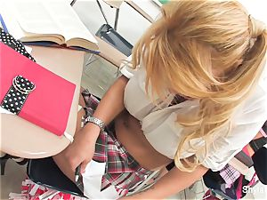 Bad college girl Shyla gets screwed by her teacher