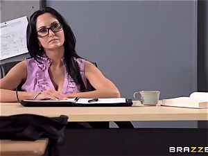 buxomy teacher Ava Addams is nailed by her college girl