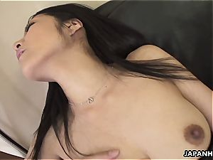 asian cougar pleasuring herself