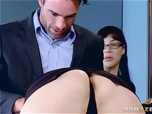 Chanel Preston deepthroating on Charles Deras giant man-meat